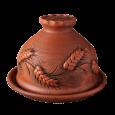 Блинница 24 см Колоски - Глиняные, гончарные изделия - ООО Гончар