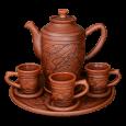 =01= Кофейный набор 6 персон - Глиняные, гончарные изделия - ООО Гончар