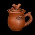 =02-4= Сливочник с листочками - Глиняные, гончарные изделия - ООО Гончар