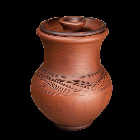 Крынка 14 см + крышка - Глиняные, гончарные изделия - ООО Гончар