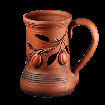 Подст. для масла 16 см Оливки - Глиняные, гончарные изделия - ООО Гончар