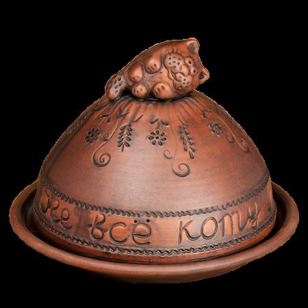 Блинница 24 см Кот - Глиняные, гончарные изделия - ООО Гончар